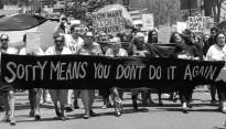 Photo taken of a protest march in 2014. Original image on stopstolengenerations.com.au